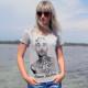 T-shirt Travis Barker Blink 182 ,  Женская футболка Трэвис Баркер Блинк 182