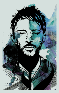 Постер Том Йорк. Радиохед 2 | Thom Yorke. Radiohead 2