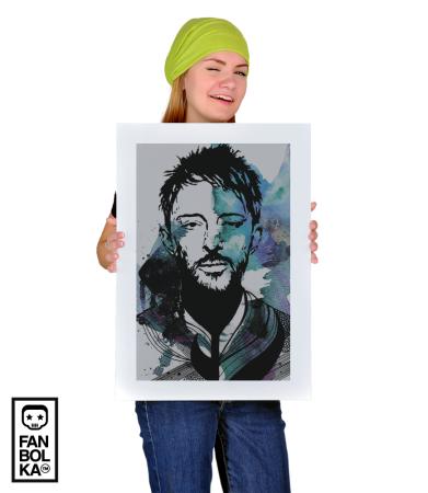 Постер Том Йорк. Радиохед 2   Thom Yorke. Radiohead 2