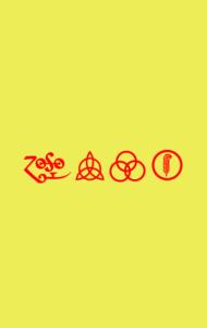 Постер Лед Зеппелин. Символы | Led Zeppelin. Symbols