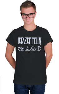 Футболка Лед Зеппелин лого и символы | Led Zeppelin logo symbols