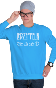 Свитшот Лед Зеппелин лого и символы | Led Zeppelin logo symbols