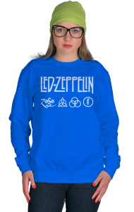 Свитшот Лед Зеппелин лого и символы | Led Zeppelin logo symbols