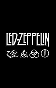 Постер Лед Зеппелин лого и символы | Led Zeppelin logo symbols
