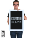 Постер Лед Зеппелин лого и символы