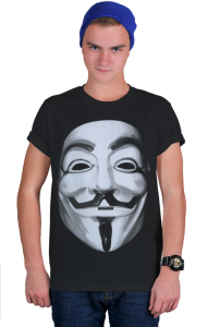 Футболка Маска Гая Фокса, Анонимуса | Guy Fawkes, Anonymous Mask