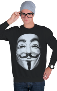 Свитшот Маска Гая Фокса, Анонимуса | Guy Fawkes, Anonymous Mask