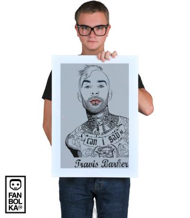 Постер Трэвис Баркер Блинк 182 | Travis Barker Blink 182