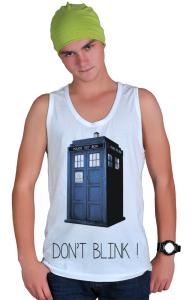 Футболка Доктор Кто. Не моргай | Doctor Who. Don`t blink