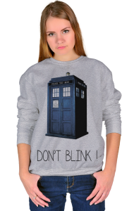 Свитшот Доктор Кто. Не моргай | Doctor Who. Don`t blink