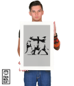 Плакат Бэнкси Тяжело-вооруженный слон