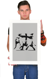 Постер Бэнкси Тяжело-вооруженный слон | Banksy heavy weapons elephant