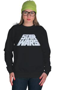 Свитшот Звездные Войны лого титры | Star Wars logo titres