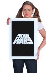 Постер Звездные Войны лого титры | Star Wars logo titres