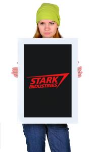"Постер ""Старк Индастриз"" классик лого | ""Stark industries"" classic logo"