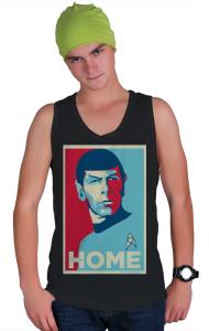 Футболка Звездный путь - Мистер Спок. Домой | Star Trek - Mr. Spock. HOME