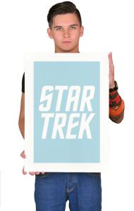 Постер Звездный путь. Классическое лого   Star Trek. Classic Logo