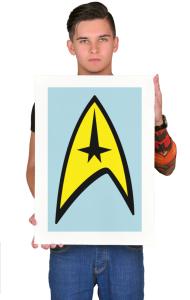 Постер Стар Трек классик-лого №3  | Star Trek classic logo №3.