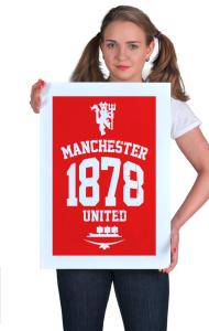 Постер ФК Манчестер 1878 | FC Manchester United 1878 black