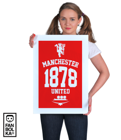 Постер ФК Манчестер 1878 | FC Manchester United 1878 black