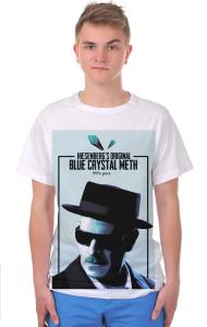 Футболка Мет Хайзенберга | Original Blue Crystal Meth. 99% pure.