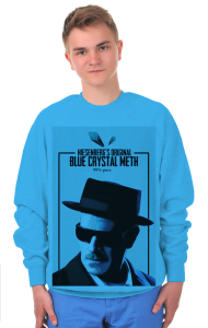 Свитшот Мет Хайзенберга | Original Blue Crystal Meth. 99% pure.