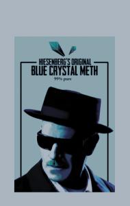 Постер Мет Хайзенберга | Original Blue Crystal Meth. 99% pure.
