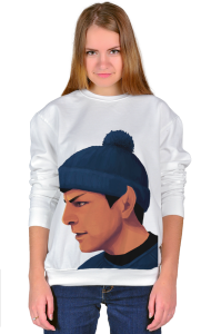 Свитшот Звездный путь. Мистер Спок в шапке | Star Trek. Mister Spock in Hat