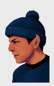 Постер Звездный путь. Мистер Спок в шапке | Star Trek. Mister Spock in Hat