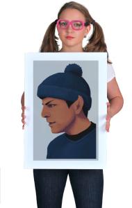 Постер Звездный путь. Мистер Спок в шапке   Star Trek. Mister Spock in Hat