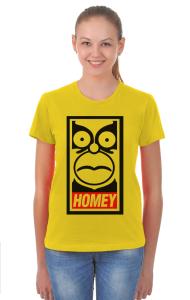 Футболка Гомей. Гомер Симпсон | HOMEY. Homer Simpson