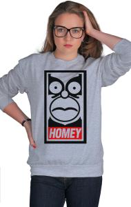 Свитшот Гомей. Гомер Симпсон   HOMEY. Homer Simpson