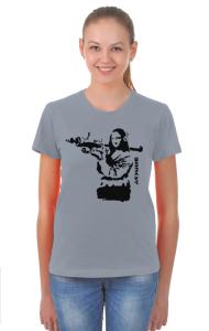 Футболка Бэнкси. Мона Лиза с гранатометом | Banksy. Mona Lisa rocket