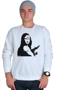 Свитшот Бэнкси. Мона Лиза с автоматом| Banksy. Mona Lisa with a gun