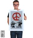 Постер Бэнкси. Солдаты и Знак Мира