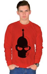 Свитшот Футурама. Злобный Бендер | Futurama. Angry Bender