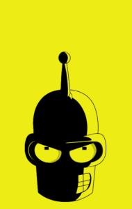 Постер Футурама. Злобный Бендер | Futurama. Angry Bender