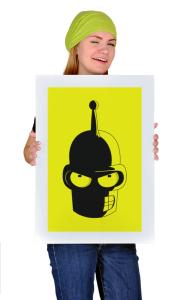 Постер Футурама. Злобный Бендер   Futurama. Angry Bender