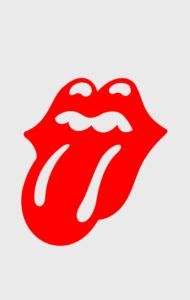 Постер Роллинг Стоунз логотип   Rolling Stones logo