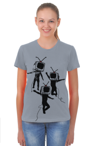 Футболка Танцующие ТВ головы | Dancing graffiti people with TV heads
