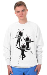 Свитшот Танцующие ТВ головы   Dancing graffiti people with TV heads