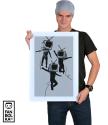 Плакат Танцующие ТВ головы