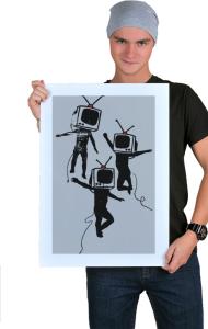 Постер Танцующие ТВ головы | Dancing graffiti people with TV heads