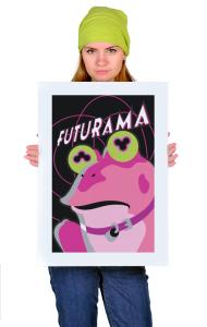 Постер Футурама. Гипножаба   Futurama. Hypnofrog