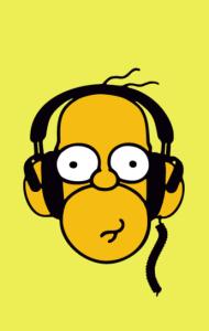 Постер Гомер Симпсон Меломан | Homer Simpson Meloman