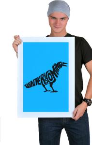Постер Зима Близко. Ворон | Winter is coming. Raven