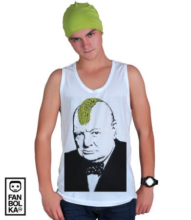Футболка Бэнкси Уинстон Черчилль Панк   Banksy Winston Churchill Punk