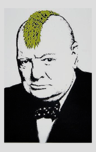 Постер Бэнкси Уинстон Черчилль Панк | Banksy Winston Churchill Punk