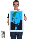 Постер Бэнкси Уинстон Черчилль Панк