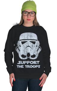 Свитшот Штурмовик   Support the Troops vintage